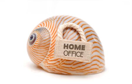 Coronavirus Home Office - snaik shell with door sign and lettering Home Office