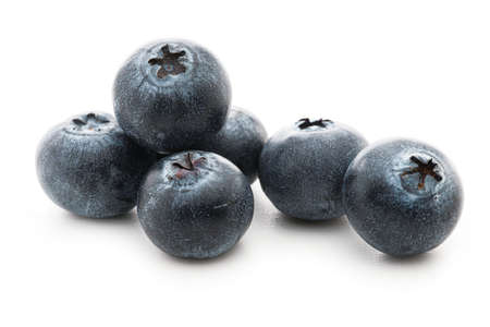 Blueberries isolated against white background