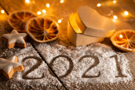 Christmas and New Year's Greetings 2021 Stok Fotoğraf