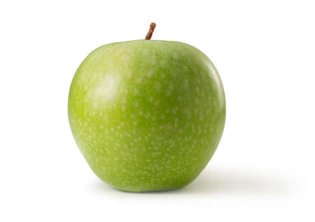 Granny Smith apple isolated against white background