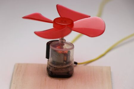 DC Motor which is very unique made of plastic body with fan blade attached to its shaft
