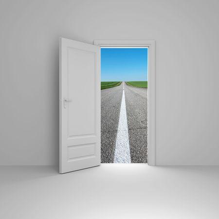 automobile door: Door to new world