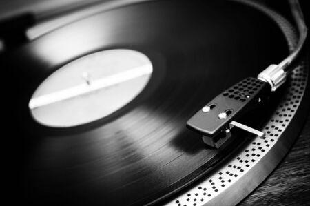 Turntable with vinyl photo