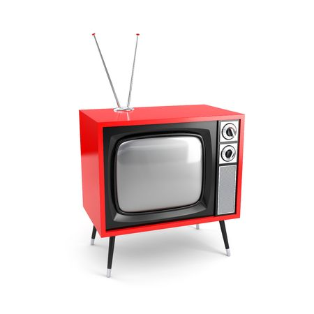 retro revival: Stylish retro TV. More TV in my portfolio Stock Photo