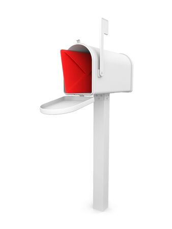 Mailbox with envelope Stock Photo - 6895020