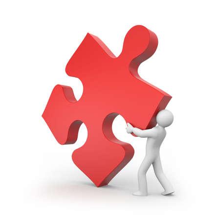 main part: Person push puzzle