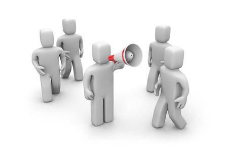 Communication concept. Isolated on white photo