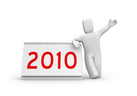 New year metaphor. Isolated on white photo