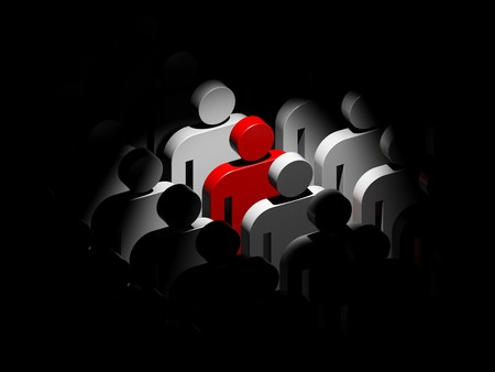 standing out: Standing out from the crowd