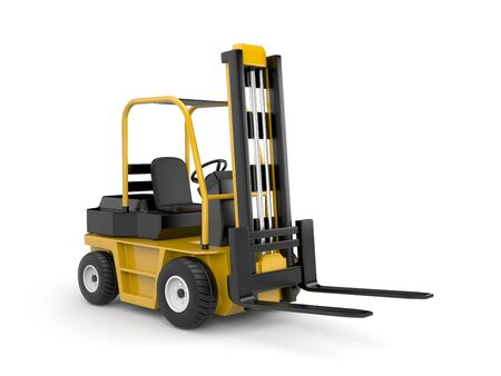 lift trucks: Forklift. Isolated on white