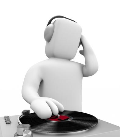 remix: DJ on the work Stock Photo