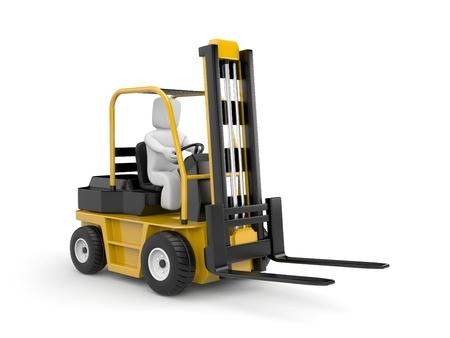 3d puppet: Forklift