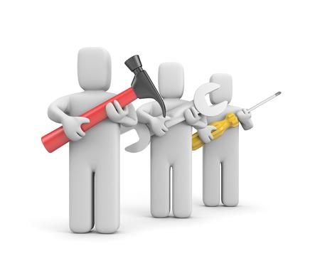 metaphor: Teamwork metaphor Stock Photo