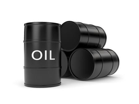 lube: Oil barrels Stock Photo