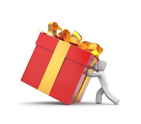 make a gift: Person make a gift