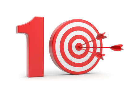numero diez: Concepto de �xito Foto de archivo
