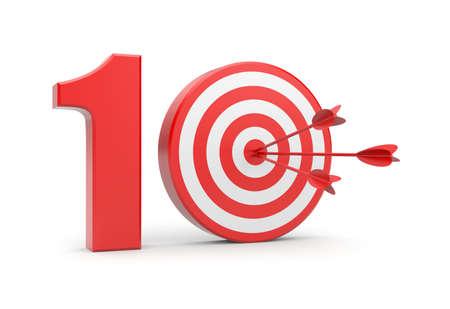 number 10: Success concept