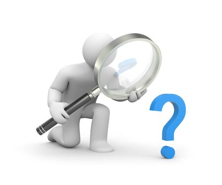 Difficult question Stock Photo - 8957324