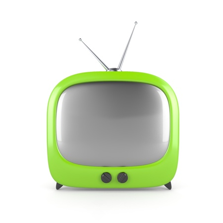 bandwidth: Stylish retro TV. More TV in my portfolio Stock Photo