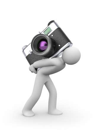 Photographer isolated on white photo