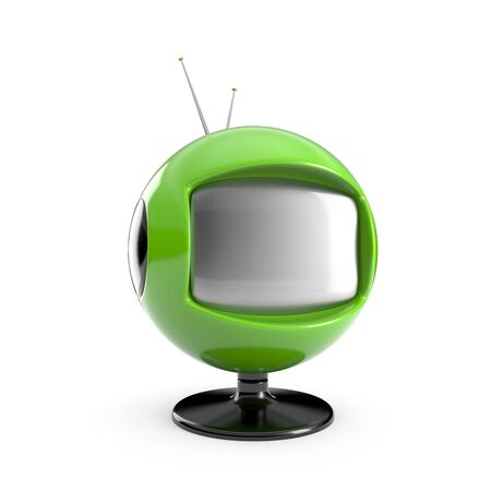 blank screen: Stylish retro TV. More TV in my portfolio Stock Photo