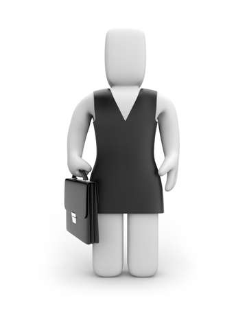 Businesswoman. Business concept. Isolated on white
