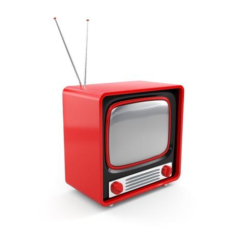More TV in my portfolio isolated on white photo