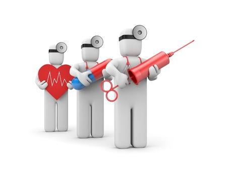 syringes: Medical emergency Stock Photo