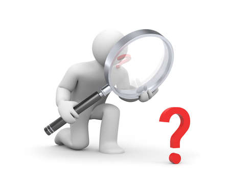 Searching answer Stock Photo - 9878016