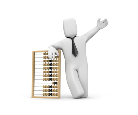abacus: Business services Stock Photo
