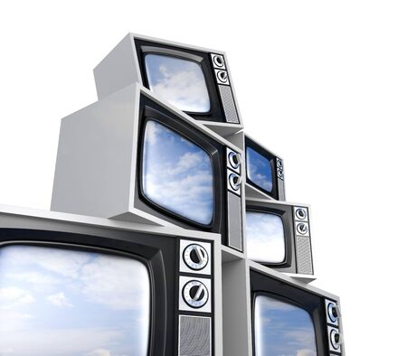 Retro TV with reflections Stock Photo - 9988031