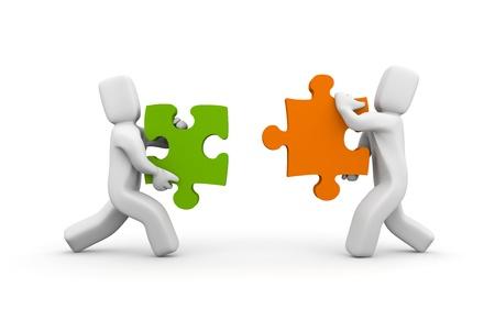 Unity metaphor Stock Photo - 9988045