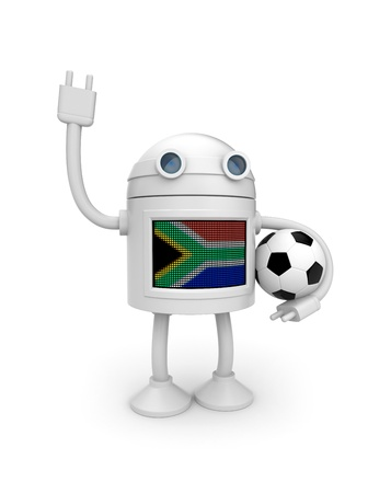 Illustration for world football championship in South Africa illustration