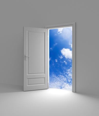 doorways: Conceptual image. Isolated on white Stock Photo