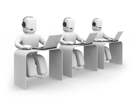 Communication concept. Isolated on white Stock Photo - 10368403