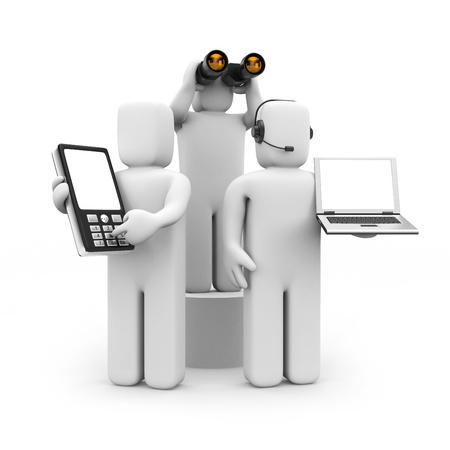 callcenter: Business team. Find and work with client Stock Photo