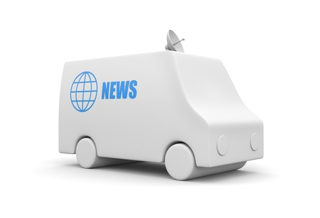 news van: Business concept. Isolated on white