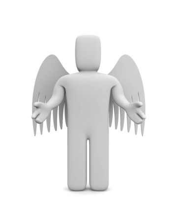 angel 3d: Angel Stock Photo