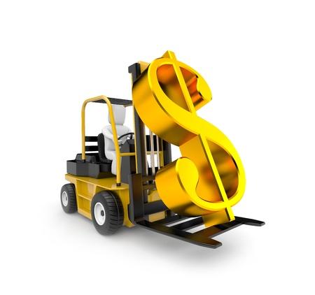 pick money: Concepto de negocio. Aislado en blanco