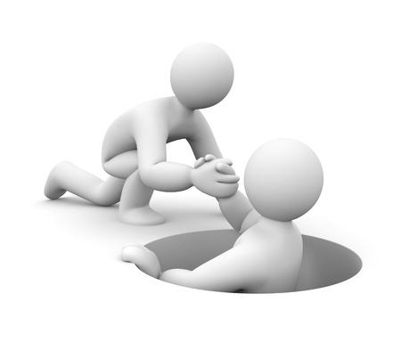 relations: Partnership metaphor. Isolated on white