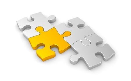 jigsaw piece: Success concept.