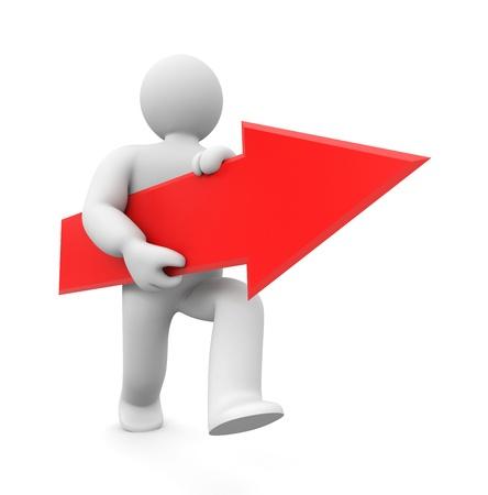 move arrow icon: Concepto de negocio. Aislado en blanco