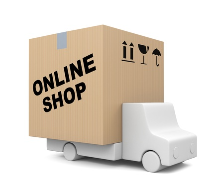 courier service: Transportation concept. Image contain clipping path Stock Photo