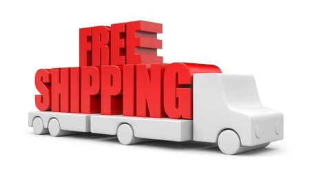 ship package: Transportation concept. Isolated on white Stock Photo