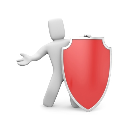 panoply: Security concept. Isolated on white Stock Photo
