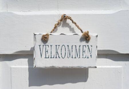 Billboard on a house door photo