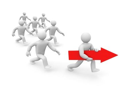 liderazgo: Liderazgo de la met�fora. Aislado en blanco