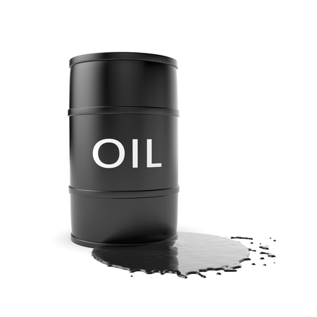crude oil: Business metaphor. Isolated on white