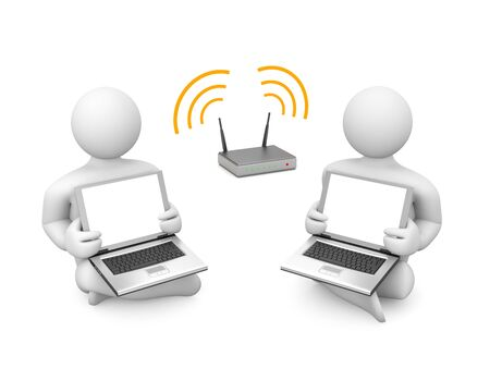 wi fi: Communication metaphor. Image contain clipping path