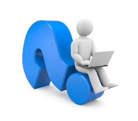 denker: Persoon werk op de laptop. Afbeelding bevat clipping path